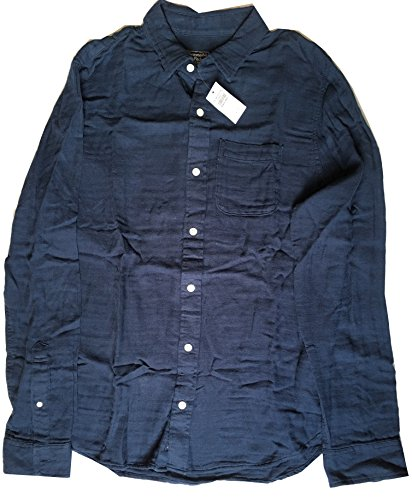 abercrombie-fitch-new-york-mens-solid-navy-soft-shirt-xl