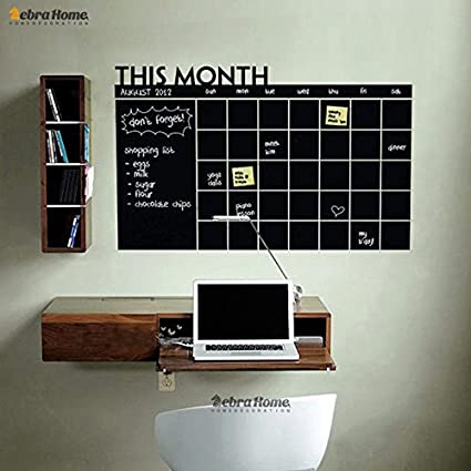 Amazon.com: shophubb DIY Monthly Planner Chalkboard Vinyl ...