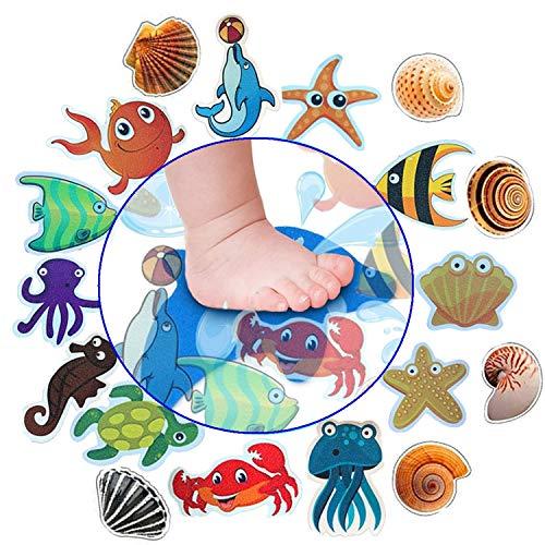 Xinhongo Bathtub Stickers Non-Slip,Baby Shower Stickers,Anti Slip Ocean Creature Bath Decal Treads,Non Slip Self Adhesive Shower Safety Appliques for Baby Children Bath Tub,Shower Room(18 Pieces)