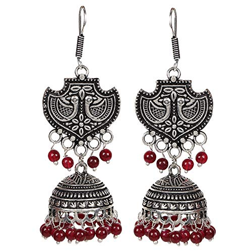 d Jhumka Jhumki Indian Earrings Jewelry for Girls and Women ()