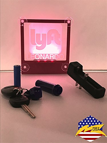 LYFT Personalized Window Sign Decal Light LED cordless Rechargeable Batteries(No more wasting your money buying regular batteries) Environment-friendly No Residue Non-Stick