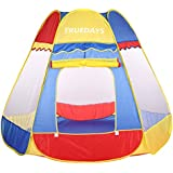 Truedays® Play Tent Hut Ball Pit Toys Indoor&outdoor Meshing for Child Safe Visibility, 59''×59''×45.3''