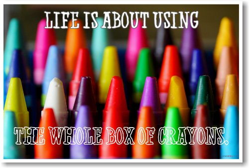 crayon color poster for classroom