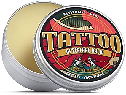 Bálsamo para cuidados posteriores de tatuaje Revitaliza, sana, protege e hidrata. Manteca de
