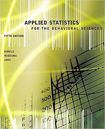Amazon com: Applied Statistics for the Behavioral Sciences