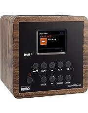 Imperial 22-270-00 d10 DAB+ en FM-wekker, 6,1 cm TFT-kleurendisplay, snooze-functie, sleeptimer, line-out, voeding, houtlook