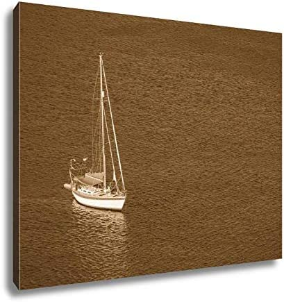 Art print POSTER// CANVAS  Aerial View of Boat Racing with Full Sails