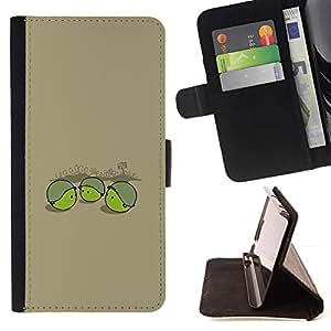 Momo Phone Case / Flip Funda de Cuero Case Cover - Pea Soldier - Funny - HTC One A9