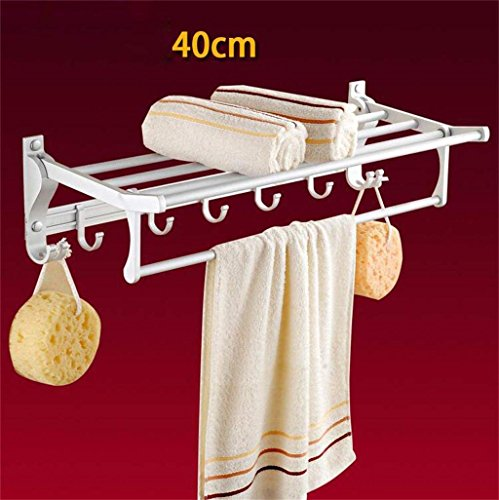 outlet EQEQ Towel Rail Linear Towel of Aluminum Folding Towel Rack Bathroom Towel Rack with 5 Hooks Development Supporters of Bath Rooms Towel Holder (Color 4)#