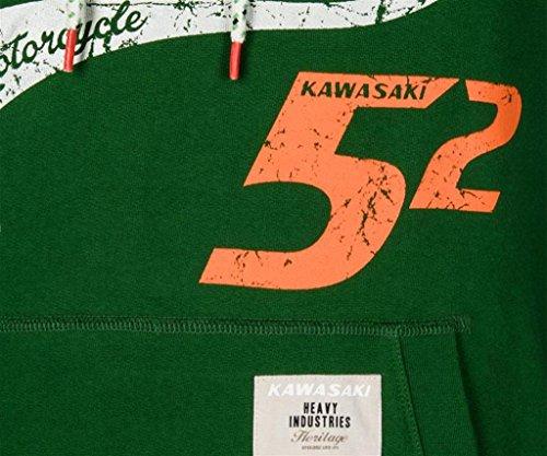 Kawasaki Kapuzen Pulli Speed 52 ! Hoodie Pullover ! grün