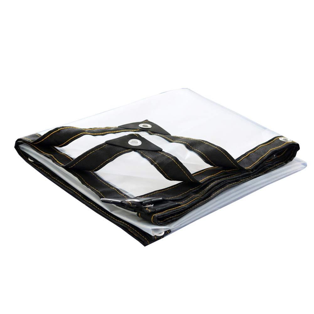 ZEMIN オーニング サンシェードテン トタープ レインプルーフ 暖かくしてください トランスペアレント アウトドア フラワーズ ボタンホール PE、 22サイズ (色 : クリア, サイズ さいず : 6x8m) 6x8m クリア B07Q1W5S66