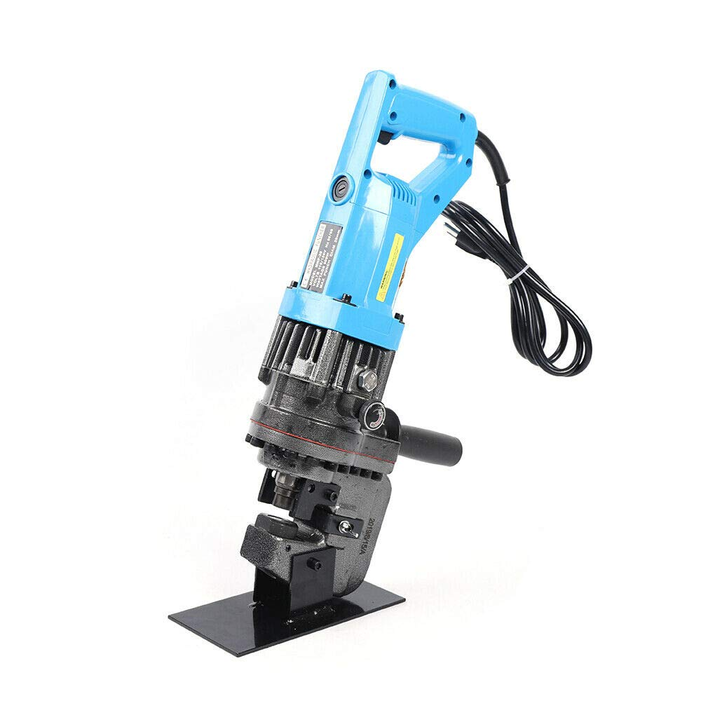 1//4 1//2 3//8 5//8 3//4 MHP-20 Electric Hole Puncher Hydraulic Knockout Punch 900W 10 Ton w// 5 Dies