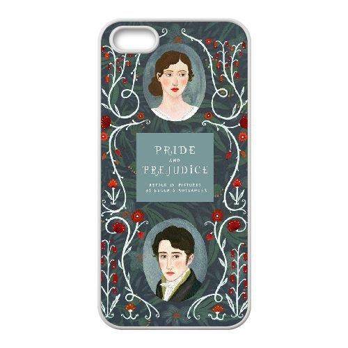 Austen Happy coque iPhone 5 5S Housse Blanc téléphone portable couverture de cas coque EBDOBCKCO13088