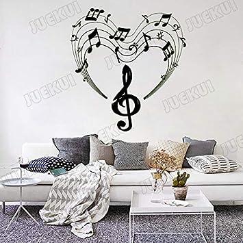 42X44 cm Amor Notas Musicales Patrón Creativo Extraíble Pegatinas ...