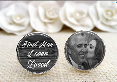 Baby Photo Customized with Your Photo Family Photo Solid Sterling Silver Cuff Links Picture cufflinks Father of Bride Photo Cuff Links