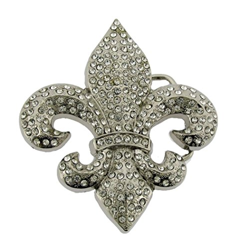 - Letter Love Fashion Men Women Cowboy Cowgirl Western Fleur De Lis French Lily Flower New Belt Buckle