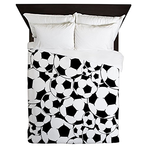 CafePress - Soccer Ball Pattern - Queen Duvet Cover, Printed Comforter Cover, Unique Bedding, Microfiber by CafePress