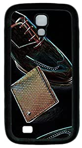samsung galaxy s4 case,custom samsung galaxy s4 i9500 case,TPU Material,Drop Protection,Shock Absorbent,Customize your own cell phone case pattern,black case,Vintage leather shoes¡ê¡§black¡ê?
