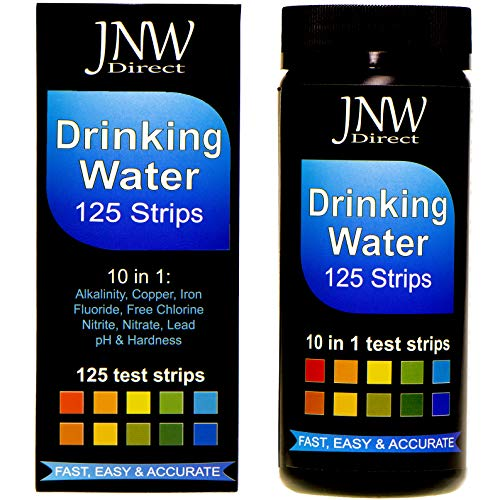 Chloramine Test Strips - JNW Direct Drinking Water Test Strips 10 in 1, Best Kit for Accurate Water Quality Testing at Home, 125 Strips MEGA Pack, Easy to Read & Instant Results (Packaging May Vary)