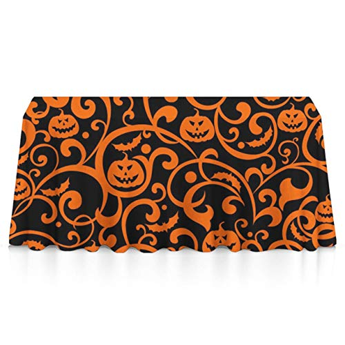 GOAEACH Stain Resistant Waterproof Square & Rectangular Tablecloths - Happy Halloween Pumpkin Seasonal Décor, Square Or Round Tables Tablecloths for Catering Events Gatherings
