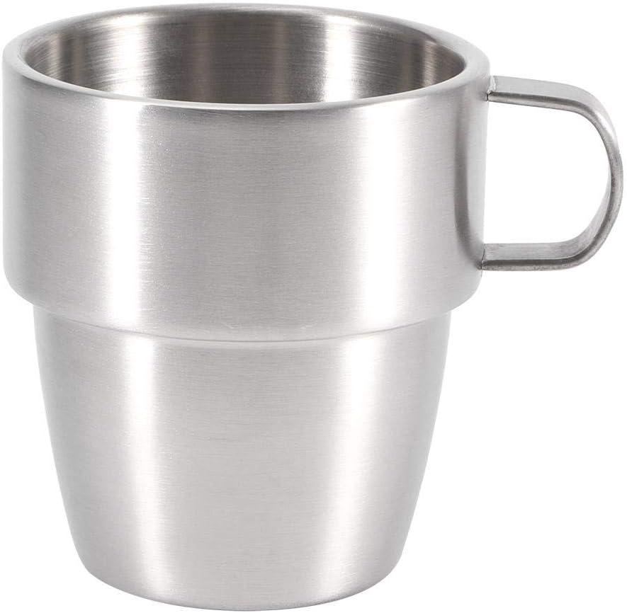 Jarra de cerveza de acero inoxidable de 280 ml Vasos de bebida de doble capa Copa aislada Accesorios de bar para Bar Cafeterías de hoteles