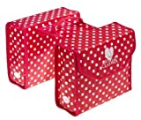 Bike Fashion Double Pannier Bag Red with White Polka Dots Princess Lillebi by Bike Fashion