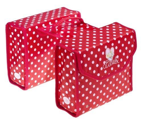 Bike Fashion Double Pannier Bag Red with White Polka Dots Princess Lillebi by Bike Fashion by Bike Fashion