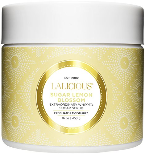 LALICIOUS - Sugar Lemon Blossom Extraordinary Whipped Sugar Scrub - 16 Ounces (Jar Ounce 16 Blossom)