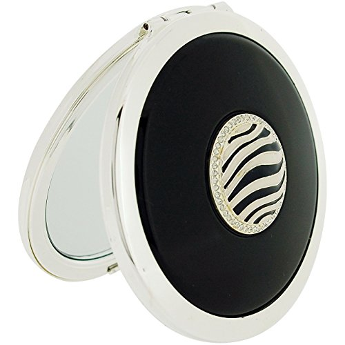 Stratton Compact Mirror Ladies Heritage Collection Double Pocket Mirror 3X Magnification Zebra Design ST1117 ()