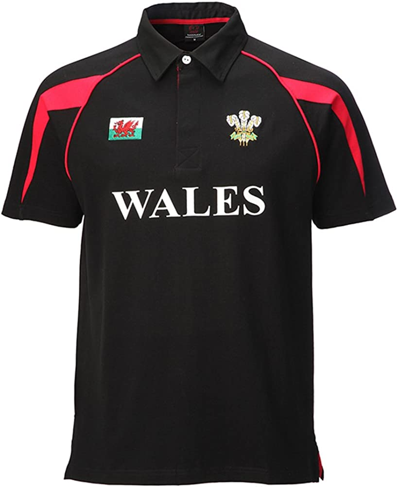 Wales Welsh Black Cotton Junior Rugby Shirt 3-4year//XSB