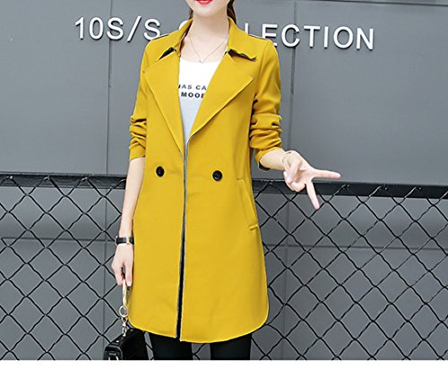 Giallo Long Cotton Overcoat Acvip Wind Coat Jacket Women Jacket 7ZwqFZ