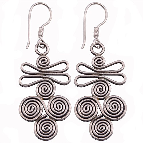 Charms Coil Dangle Earrings Karen Hill Tribe Pure Silver (Tribe Hill Charms Coil)