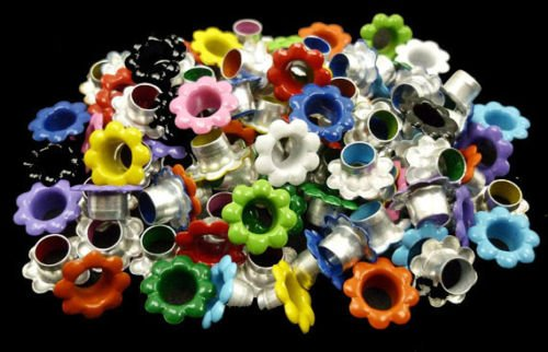 Arts and Crafts SUPPLIES-100pcs Aluminium Mixed Colors Flowers Eyelet Scrapbooking Card Hole LeatherCraft E099