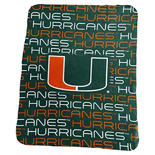 Logo Brands NCAA Miami Hurricanes Classic Fleece, One Size, - Fleece Hurricanes Ncaa Miami