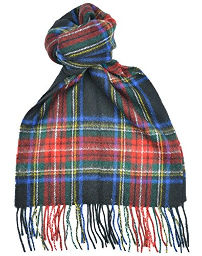 Lambswool Scottish Clan Scarf Stewart Black Modern Tartan (Tartan Black Stewart)