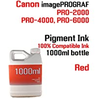 Red Pigment Ink 1000ml 100% compatible bottle ink Canon...