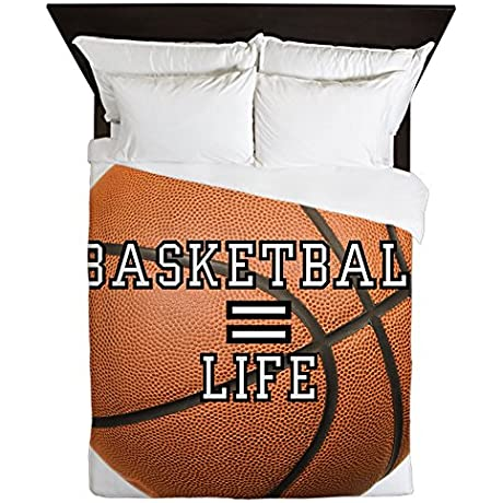 Queen Duvet Cover Basketball Equals Life