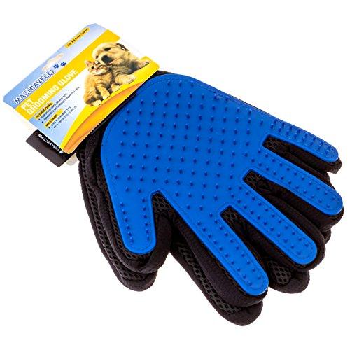 MACHIAVELLI Pet Grooming Glove Enhanced Five Finger Design Massage Tool Dynamic Pet Hair Remover Mitt Deshedding Glove…