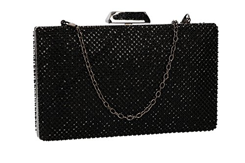 woman MOON opening VN2374 ceremonies MICHELLE for metallic black Purse pochette 4gnqZxwqd