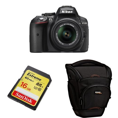 Nikon D5300 with 18-55mm VR II Lens (Black) + Free Accessories