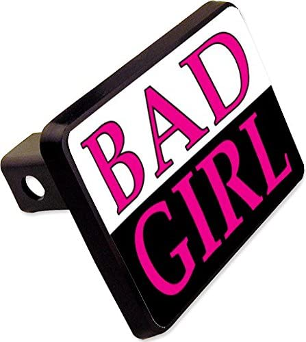 BAD GIRL Trailer Hitch Cover Plug Funny State Novelty