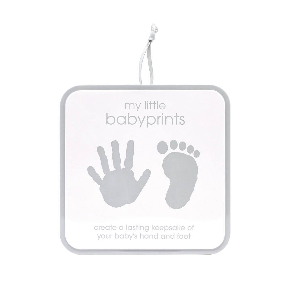 Pearhead My Little Babyprints, Handprint or Footprint Impression Kit and Keepsake Tin Perfect for Capturing Baby's Print, Gray Chevron by Pearhead