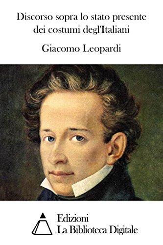 Operetta Costumes (Discorso sopra lo stato presente dei costumi degl'Italiani (Italian Edition))