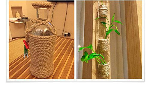 KINGLAKE-100-Natural-Strong-Jute-Rope-64-Feet-4mm-Hemp-Rope-Cord-For-Arts-Crafts-DIY-Decoration-Gift-Wrapping