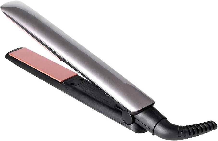 Plancha para el cabello con iones de queratina y rizador para el cabello y placas de cerámica Plancha para el cabello contecnología plateada