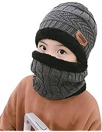 Winter Beanie Scarf for Boys Girls (5-14 Years) Warm Snow...