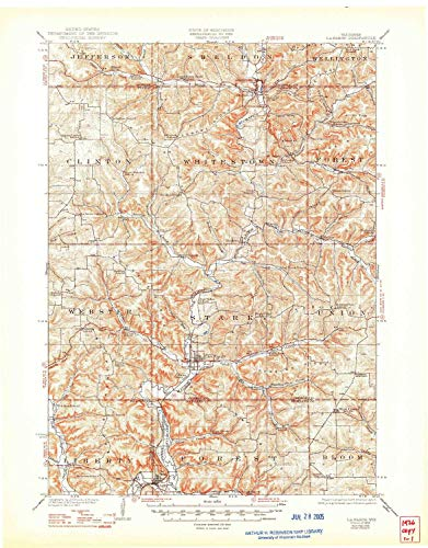 YellowMaps La Farge WI topo map, 1:62500 Scale, 15 X 15 Minute, Historical, 1926, Updated 1948, 21.22 x 16.61 in - Paper ()