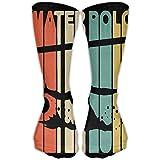 Unisex Vintage Style Water Polo Silhouette High Long Socks Winter Socks