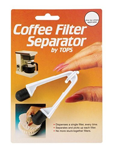 Lunarland Coffee Filter Paper Separator - Helps Grab One At A Time From A Stack (Vegetable Fox Brush Run)