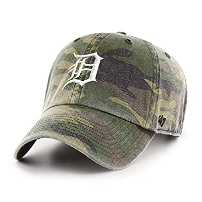'47 Brand Detroit Tigers Clean Up Hat Cap Camo (Camouflage)/White